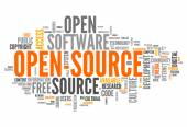 Word Cloud Open Source — Foto de Stock