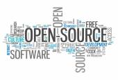 Word Cloud Open Source — Stockfoto