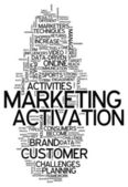 Word Cloud Marketing Activation — Stock Photo