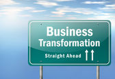 Highway Signpost Business Transformation — Stock Photo