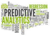 Word Cloud Predictive Analytics — Stock Photo