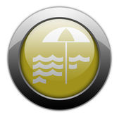 Icon, Button, Pictogram Beach — Stock Photo