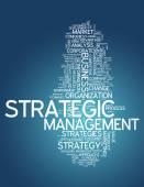Word Cloud Strategic Management — Stock Photo