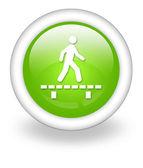 Icon, Button, Pictogram Boardwalk — Stockfoto