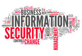 Word Cloud Information Security — Stock Photo
