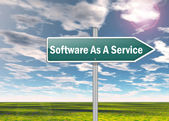 Signpost Software As A Service — Stock Photo