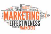 Word Cloud Marketing Effectiveness — Stock Photo