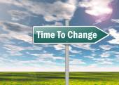 Signpost Time To Change — Stock Photo