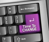 Keyboard Illustration Time To Change — Stock Photo