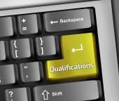 Kwalifikacji ilustracja klawiatura — Zdjęcie stockowe
