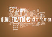 Word Cloud Qualifications — Stockfoto