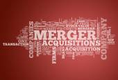 Word Cloud Merger & Acquisitions — Stock Photo