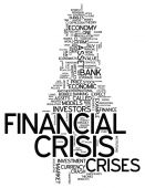 Word Cloud Financial Crisis — Stock Photo