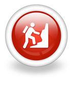 Icon, Button, Pictogram Climbing — Zdjęcie stockowe