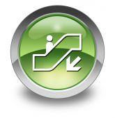 Icon, Button, Pictogram Escalator Down — Stock fotografie