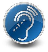 Icon, Button, Pictogram Hearing Impairrment — Stock Photo