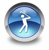 Icon, Button, Pictogram Golfing — Stock Photo