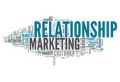 Word Cloud Relationship Marketing — Stock Photo