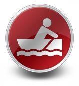 Icon, Button, Pictogram Rowboating — Stock Photo