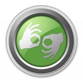 Icon, Button, Pictogram Sign Language — Stock Photo