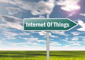 Signpost Internet Of Things — Stock Photo
