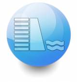 Icon, Button, Pictogram Dam — Stock Photo
