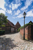 Discover lueneburg 13 - street impression at an old abbey — Stock Photo