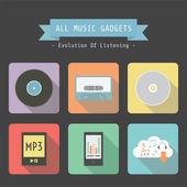 Music gadget — Stock Vector