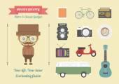 Hipster — Vecteur