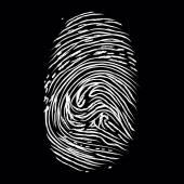 Fingerprints on black  — Stock Photo
