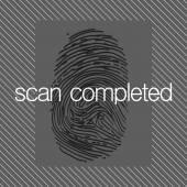 Fingerprint scan  — Stock Photo
