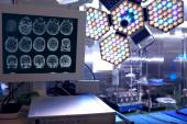Tomogram of the patient in the neurosurgical operating room — Stock Photo