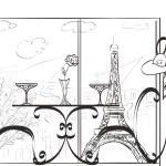 Love in Paris. Hand drawn sketch — Stock Photo #56534573