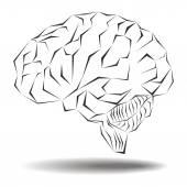 Angular geometric representation of the human brain  — Stock Photo