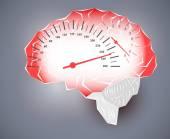 Maximum speed of the human brain — Stock Photo