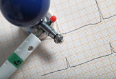 Close-up of medical supplies for ECG recording — Stock Photo