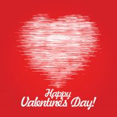 Heartshape greeting card - symbol of Valentine's Day — Stock Photo