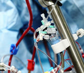 Artificial blood circulation apparatus in the intensive care unit — Stock Photo