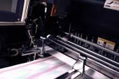 Printing machine during production output — Zdjęcie stockowe