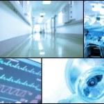 Medical background set of blurry photos — Stock Photo #76942835