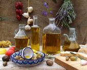 Still life with olive oil — Stock Photo