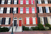 Philadelphia townhouses — Stock Photo
