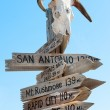 American Western signpost — Stock Photo #74603821
