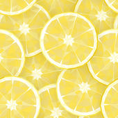 Seamless background with polygonal segments of lemon. Vector ill — Stock Vector