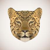 Polygonal leopard. Vector illustration — Stock Vector