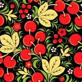 Khokhloma seamless pattern - berry. Vector illustration — Stock Vector