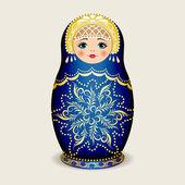 Russian dolls - matryoshka. Vector illustration — Stock Vector