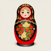 Russian dolls - matryoshka. Vector illustration — Stock Vector