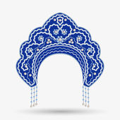 Kokoshnik with pearls. Vector illustration — Vettoriale Stock