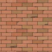 Seamless pattern of a red brick wall. Vector illustration. — Cтоковый вектор